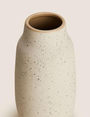 Ev Beyaz Dekoratif Vazo