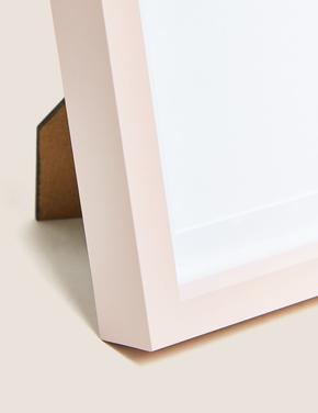 Ev Pembe Ahşap Fotoğraf Çerçeve (10x15 cm)