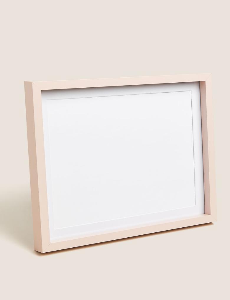 Ev Pembe Ahşap Fotoğraf Çerçeve (20x25 cm)