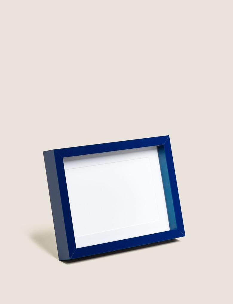 Ev Lacivert Ahşap Fotoğraf Çerçeve (10x15 cm)