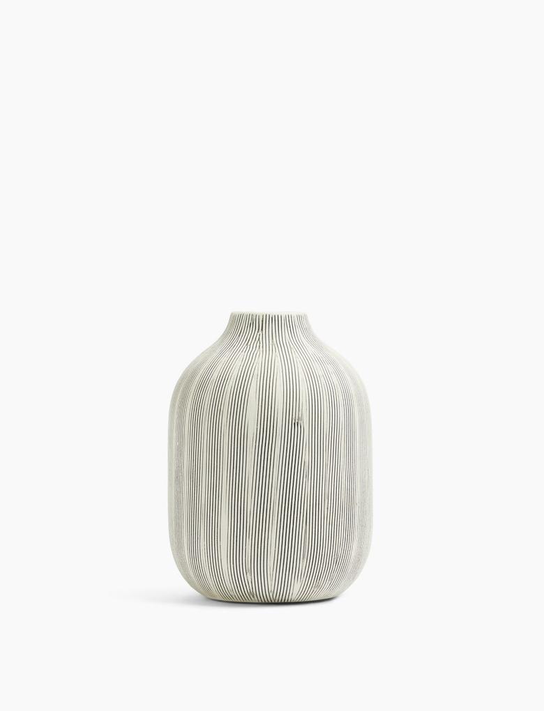Ev Gri Dekoratif Vazo