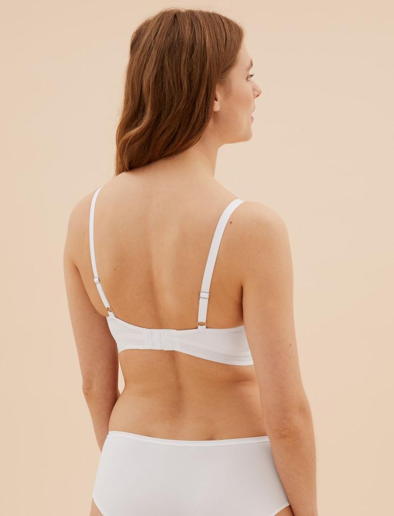 Kadın Beyaz Pamuklu Cool Comfort™  Bralet