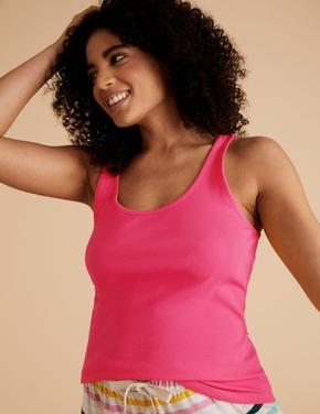 Kadın Pembe Pamuklu T-Shirt
