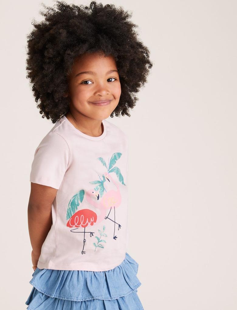 Kız Çocuk Multi Renk 3'lü T-Shirt Seti