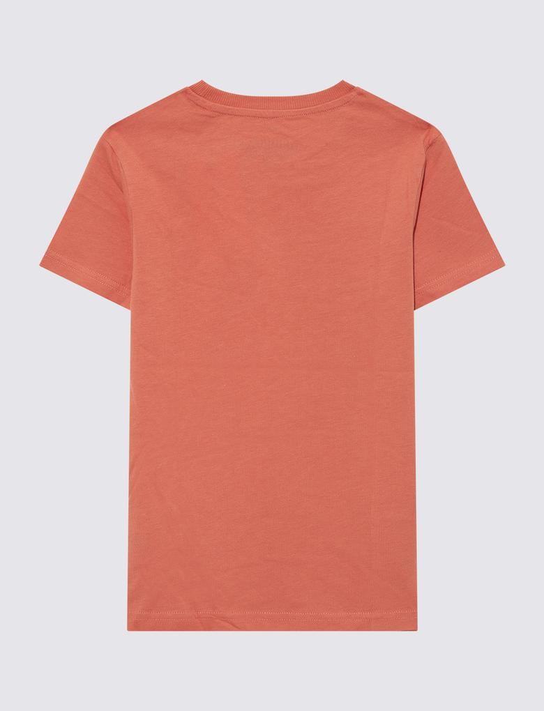 Erkek Çocuk Kırmızı Kısa Kollu Baskılı T-shirt