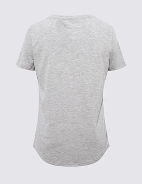Kadın Gri Relaxed Fit T-Shirt