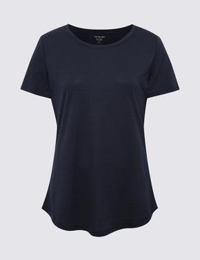 Kadın Lacivert Relaxed Fit T-Shirt