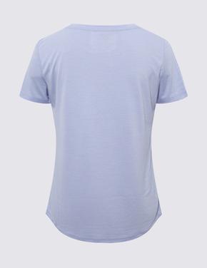 Kadın Mavi Relaxed Fit T-Shirt