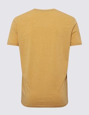 Erkek Sarı Premium Pamuklu Kısa Kollu Atlet