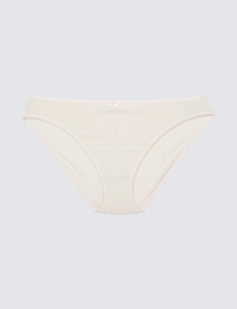 Kadın Bordo 5'li Cotton Lycra® Bikini Külot Seti