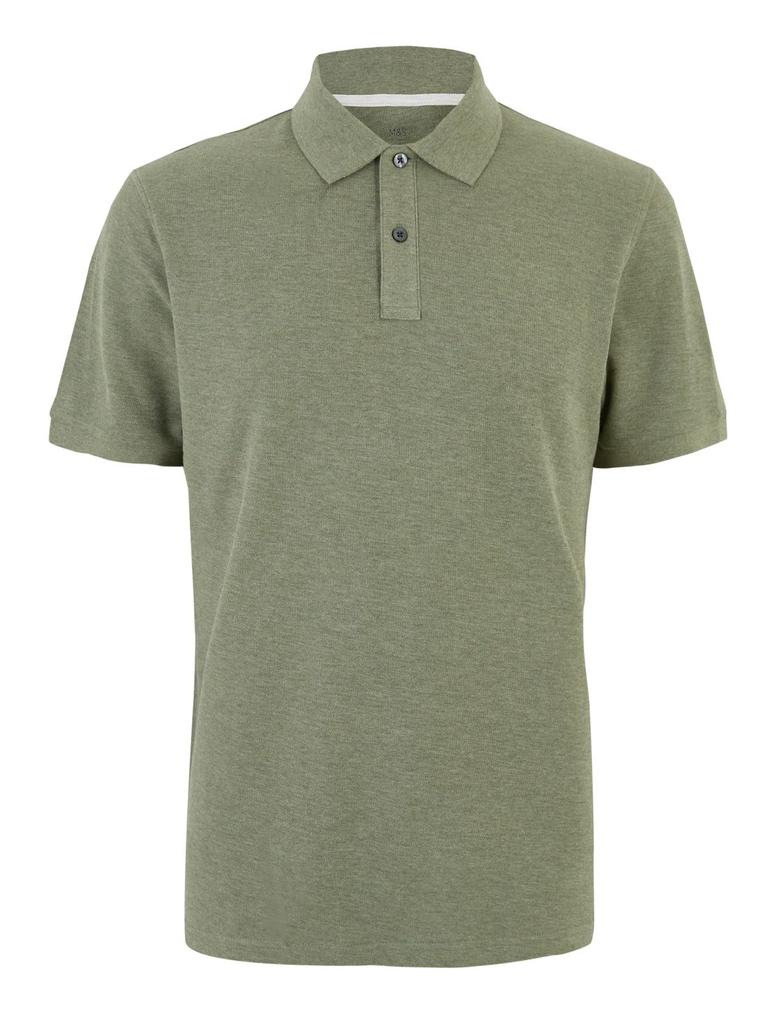 Erkek Yeşil Polo Yaka Kısa Kollu T-Shirt