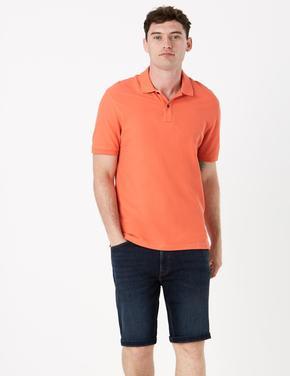 Erkek Turuncu Polo Yaka Kısa Kollu T-Shirt