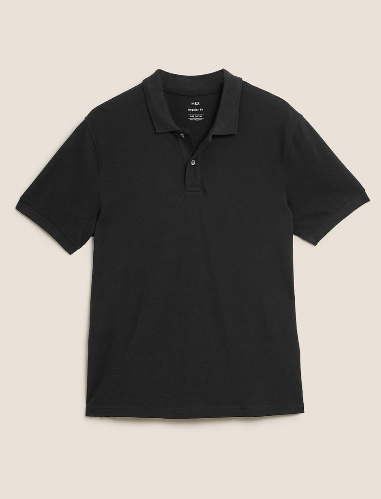 Erkek Siyah Kısa Kollu Polo Yaka T-Shirt