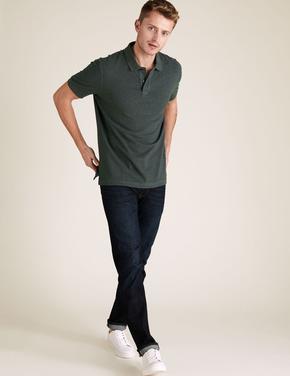 Yeşil Polo Yaka Kısa Kollu T-Shirt