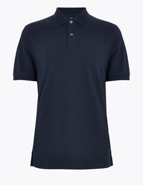 Lacivert Polo Yaka Kısa Kollu T-Shirt