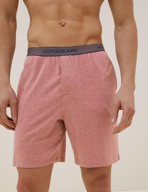 Erkek Pembe Premium Pamuklu Şort Pijama Altı