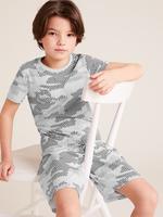 Çocuk Gri Kamuflaj Desenli Pijama Takımı