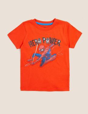 Erkek Çocuk Turuncu Spider-Man™ 3D Baskılı T-Shirt