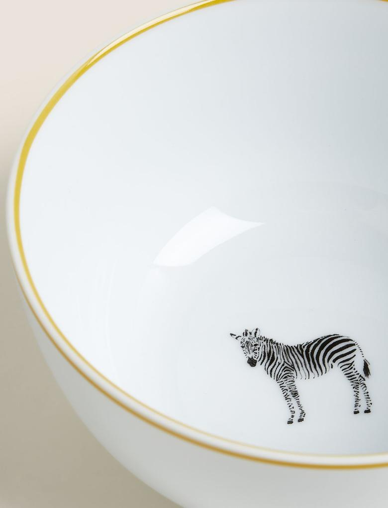 Ev Siyah 12 Parça Zebra Desenli Yemek Takımı