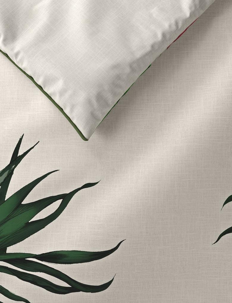 Ev Beyaz Saf Pamuk Orman Desenli Nevresim Takımı