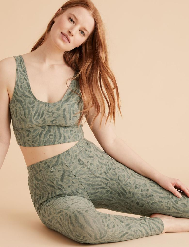Kadın Yeşil Flexifit™ Crop Sütyen