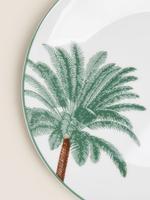 Ev Yeşil 12 Parça Palmiye Desenli Yemek Takımı