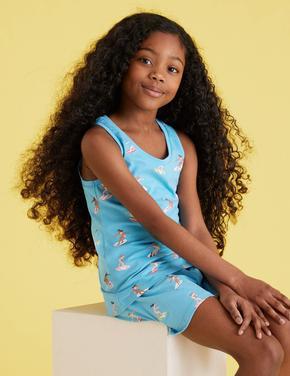 Çocuk Multi Renk 2'li Surf Desenli Pijama Takımı (6-16 Yaş)