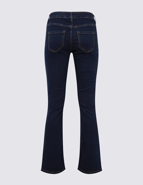 Kadın Lacivert Bootcut Jean Pantolon