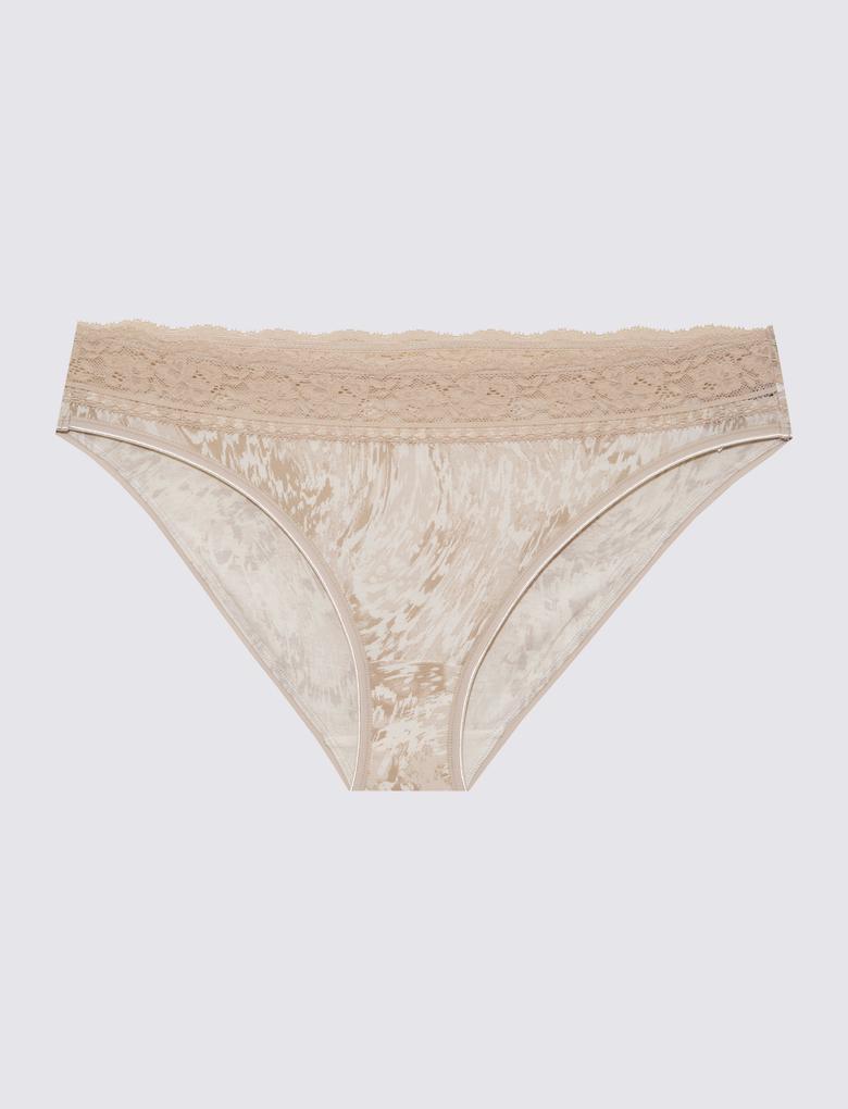 Kadın Kahverengi 5'li Cotton Lycra® High Leg Külot Seti