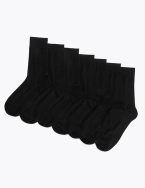 Erkek Lacivert 7'li Cool & Fresh™ Çorap Seti