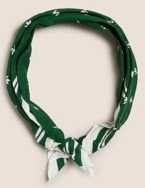 Kadın Yeşil Desenli Fular