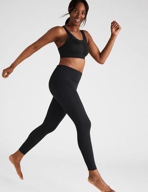 Kadın Siyah Yüksek Etkili Sporcu Sütyeni