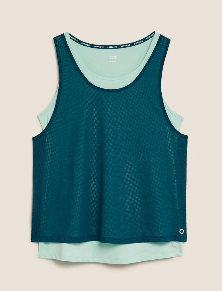 Yeşil Çift Katlı Spor T-Shirt