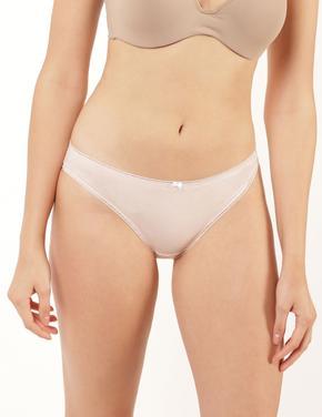 Kadın Pembe 5'li  Bikini Külot Seti