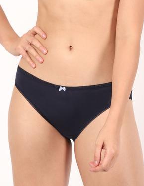 Kadın Mavi 5'li Pamuklu Bikini Külot Seti