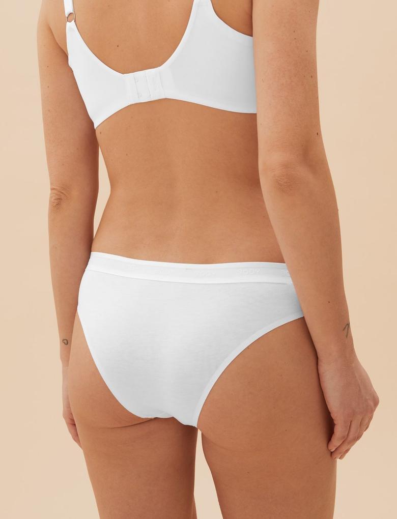 Kadın Beyaz Cool Comfort™ Brazilian Külot