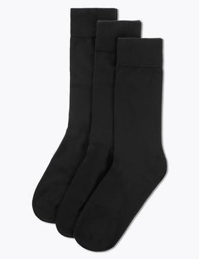 Erkek Siyah 3'lü Egyptian Cotton Çorap Seti
