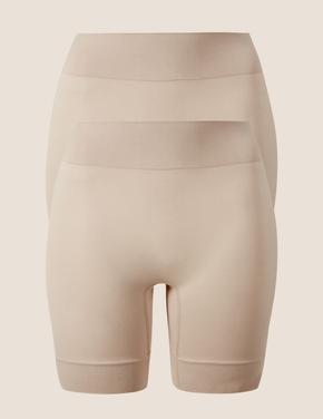 Kadın Bej 2'li Cool Comfort™ Sürtünme Önleyici Short Korse Seti