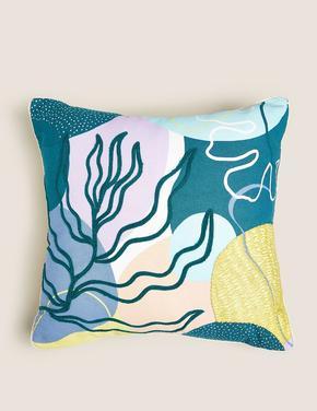 Ev Mavi Desenli Yastık