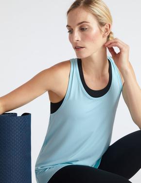 Kadın Mavi Relaxed Yoga Atleti