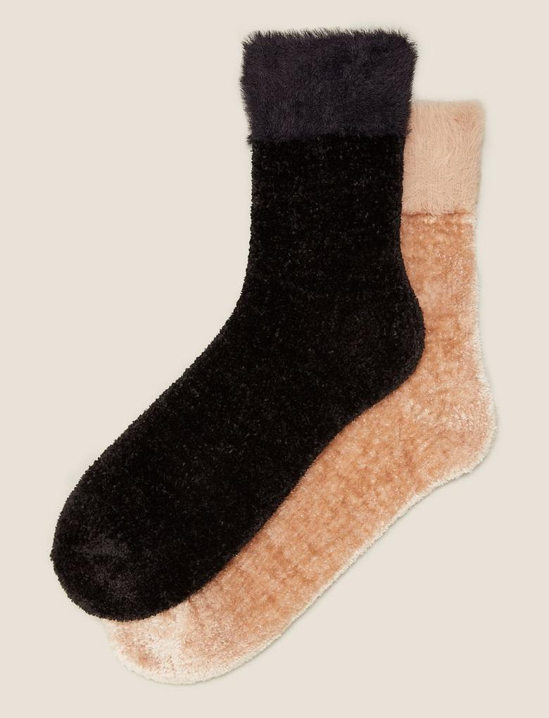 Kadın Siyah 2'li Çorap Seti