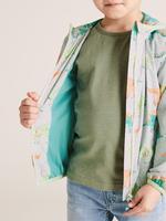Erkek Çocuk Gri Stormwear™ Dinozor Desenli Yağmurluk