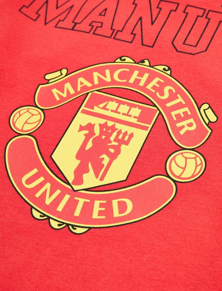 Çocuk Kırmızı Manchester United FC™ Baskılı Pijama Seti (6-16 Yaş)