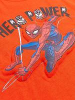 Erkek Çocuk Turuncu Saf Pamuk Spider-Man™ 3D Baskılı T-Shirt (2-7 Yaş)