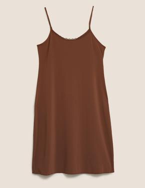 Kadın Kahverengi Cool Comfort™ İnce Askılı Kombinezon