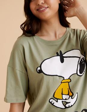Kadın Yeşil Snoopy™ Pijama Takımı