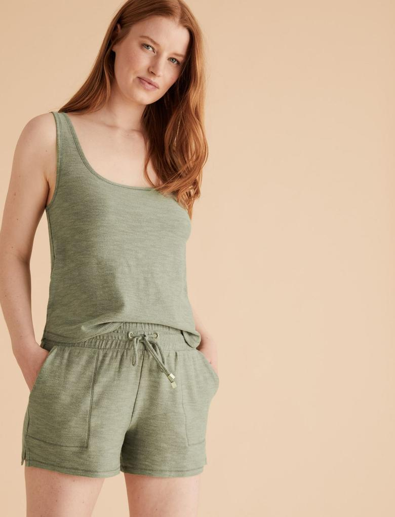 Kadın Yeşil Flexifit™ Askılı Pijama Takımı