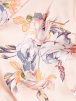 Kadın Pembe Çiçek Desenli Sabahlık