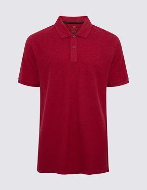 Erkek Kırmızı Polo Yaka Kısa Kollu T-Shirt