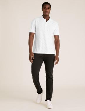 Erkek Beyaz Desenli T-Shirt